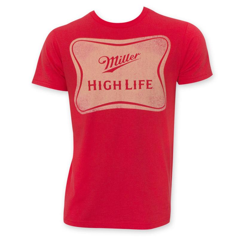 Miller High Life Classic Logo Red Tee Shirt