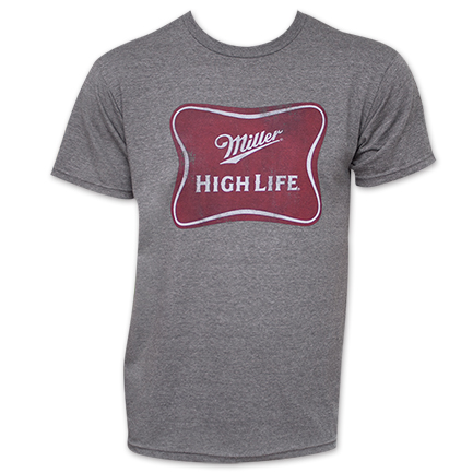 Miller High Life Basic Logo Tee - Heather Grey