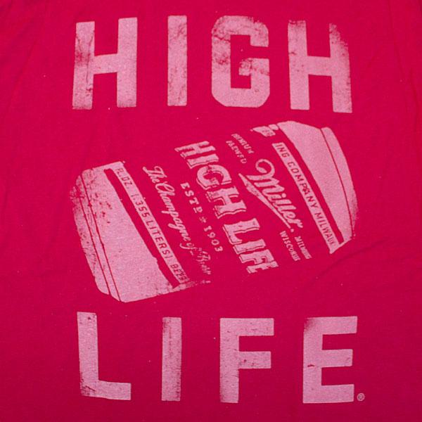 Miller High Life Can Red Shirt