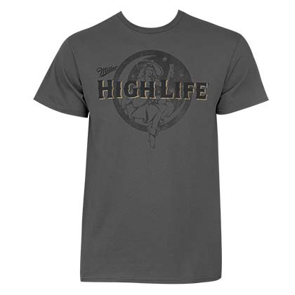 Miller High Life Men's Grey The Life T-Shirt
