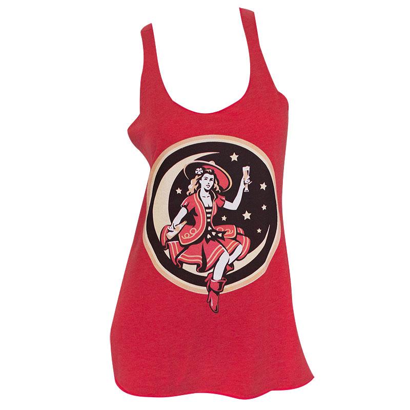 Miller High Life Beer Lady Red Racerback Ladies Tank Top
