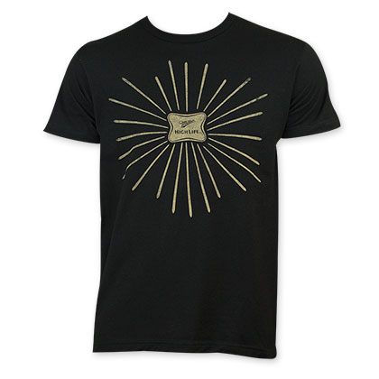 Miller High Life Sunburst Black Tee Shirt