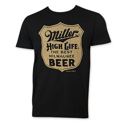 Miller Life Men's Black Best Beer T-Shirt