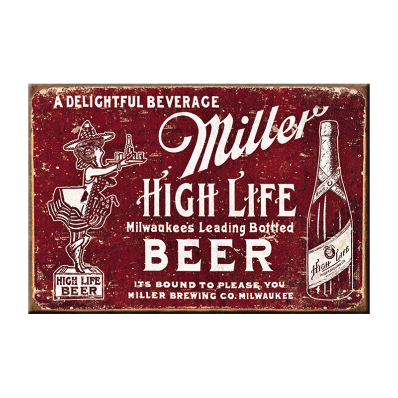 Miller High Life Red Retro Magnet