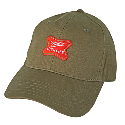 Miller High Life Logo Army Green Dad Hat