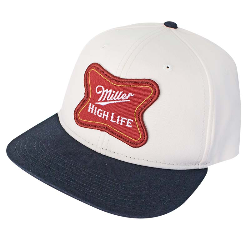 Miller High Life White Snapback Hat