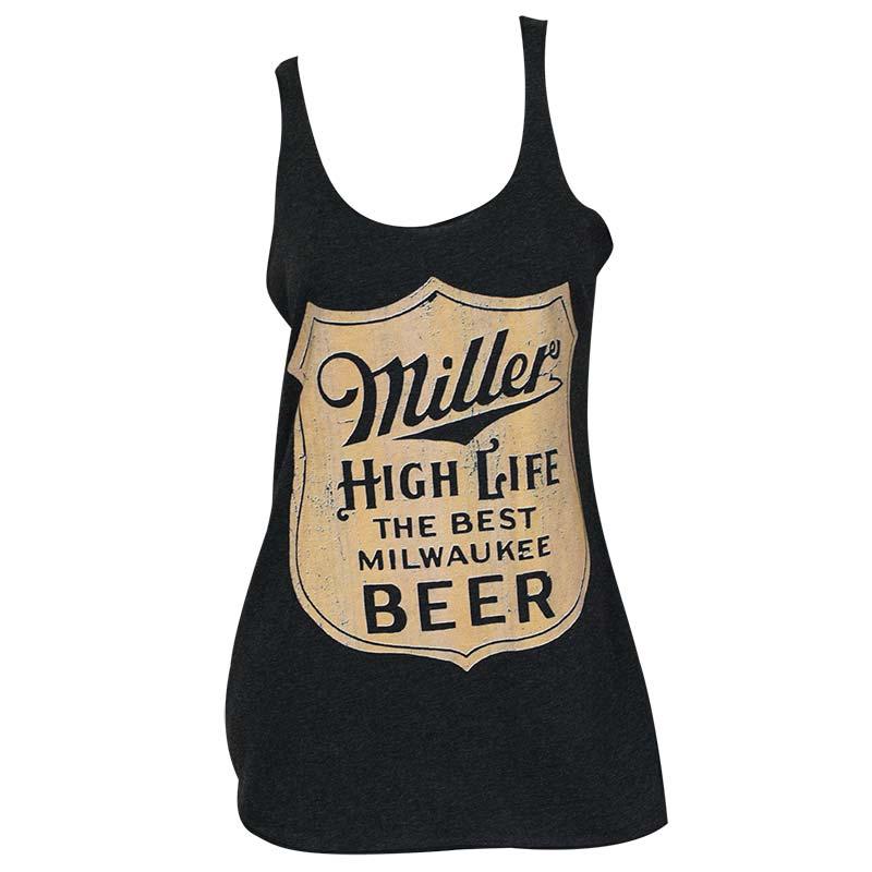 Miller High Life Women's Black Racer Tank Top