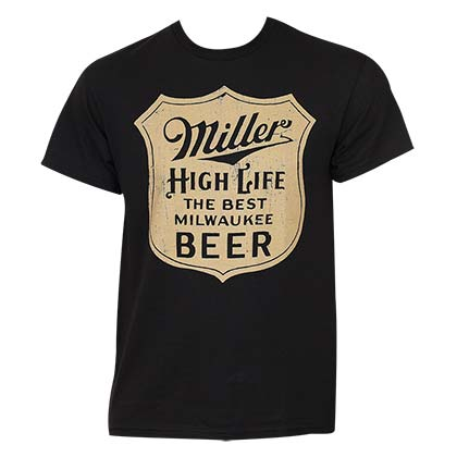 Miller High Life Men's Black Best Milwaukee T-Shirt
