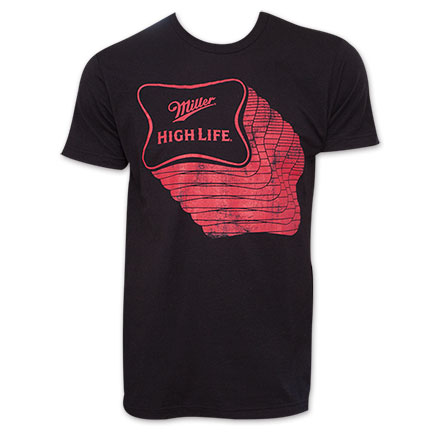 Miller High Life Repeating Red Logo T-Shirt