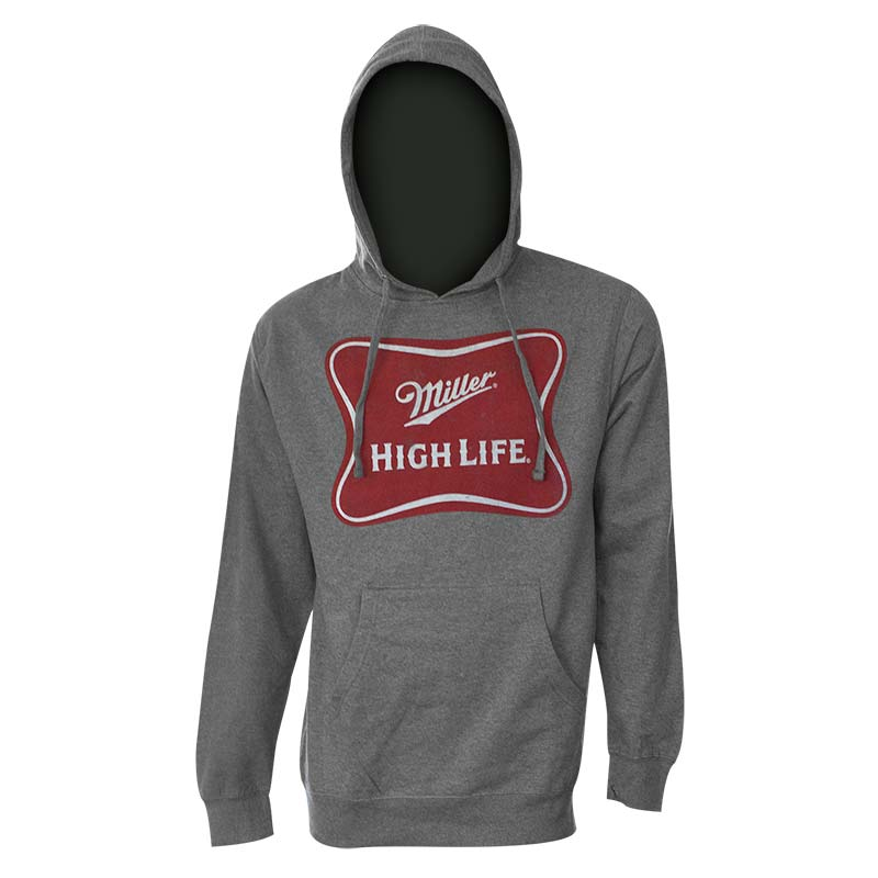 Miller High Life Classic Logo Heather Grey Hoodie