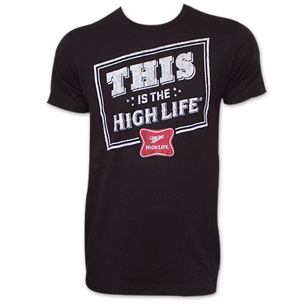 Miller High Life This Is The High Life Black T-Shirt