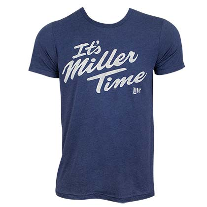 Miller Lite Men's Blue It's Miller Time T-Shirt