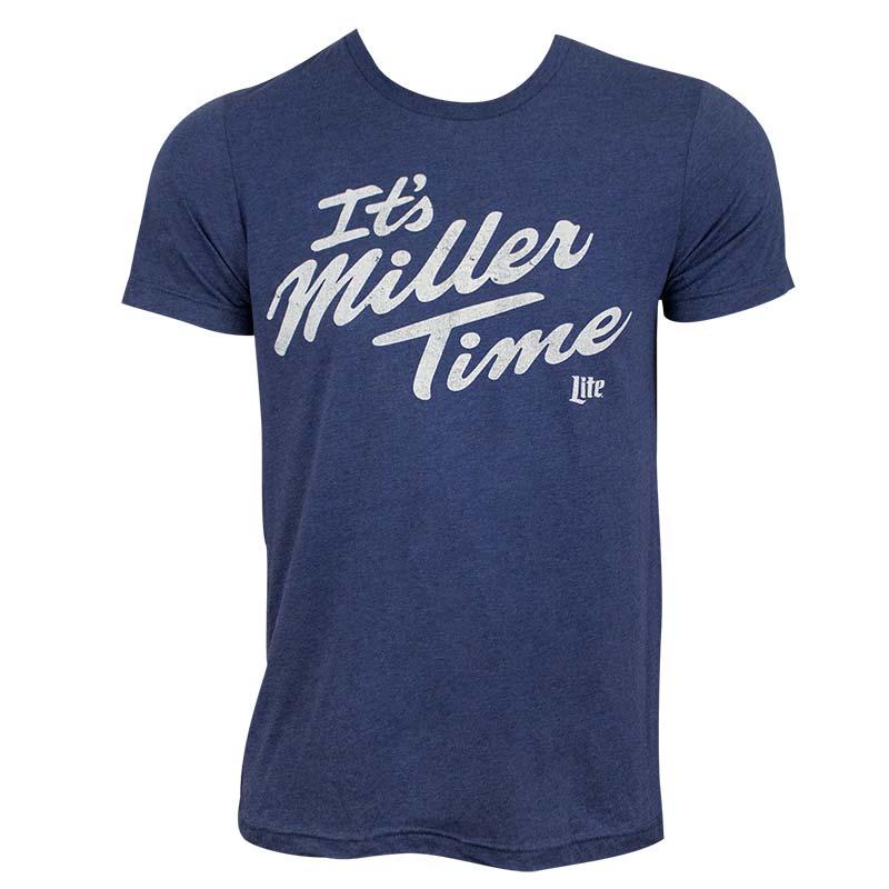 Miller Lite Men's Blue It's Miller Time T-Shirt