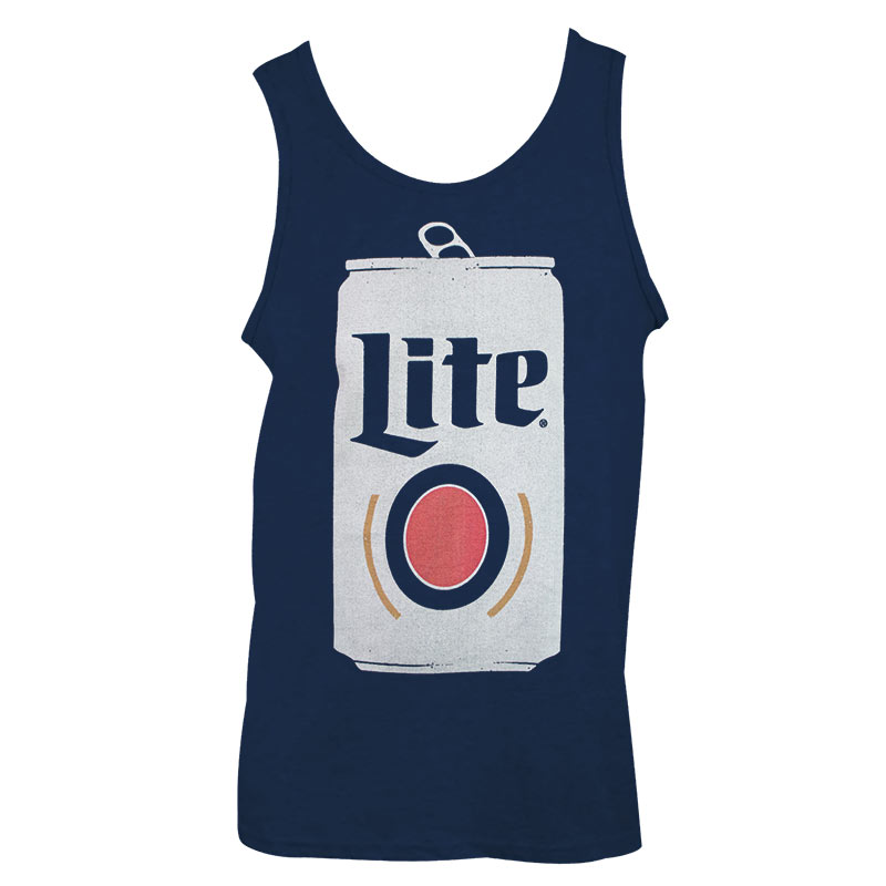 Miller Lite Can Design Men's Navy Blue Tank Top