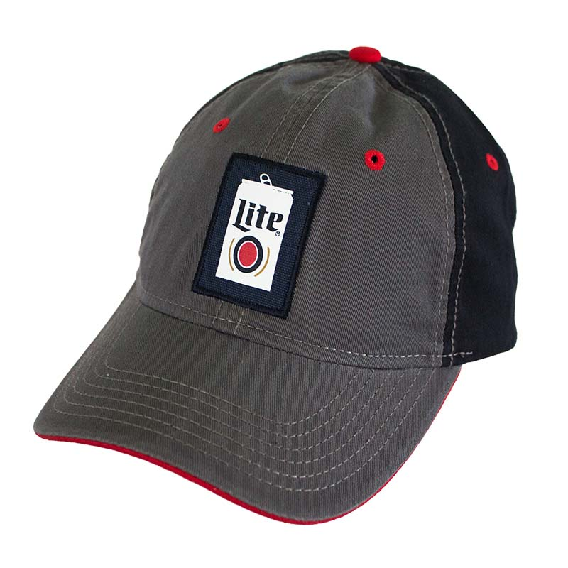 Miller Lite Grey Beer Can Logo Hat