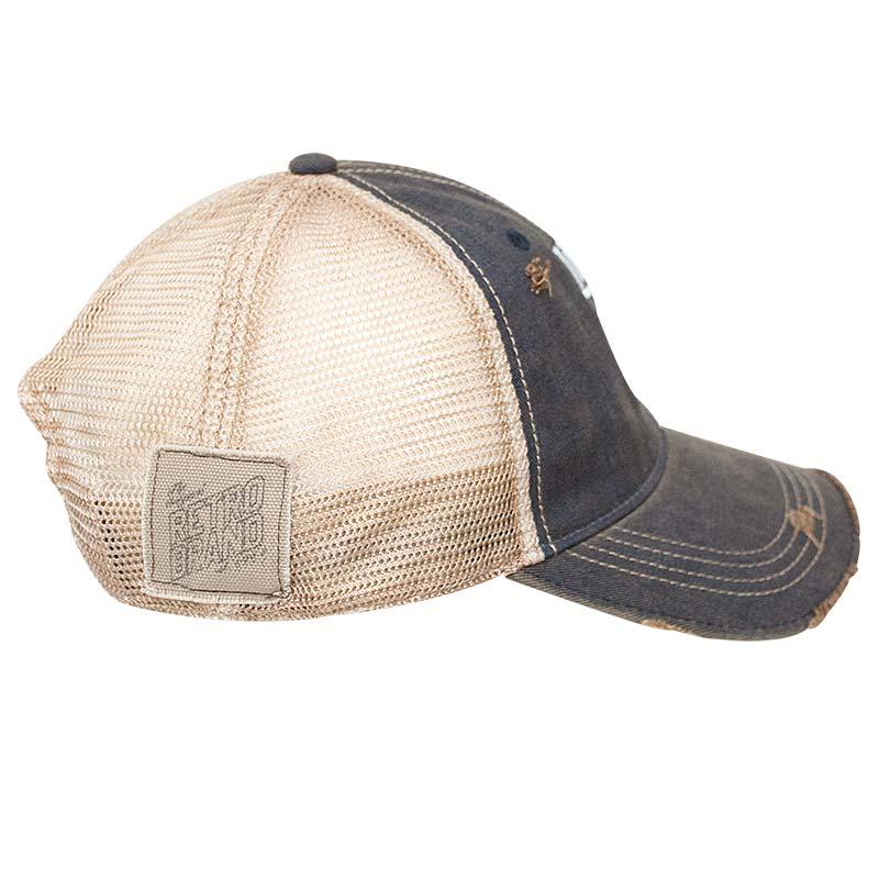 Miller Lite Classic Retro Brand Logo Denim Trucker Hat