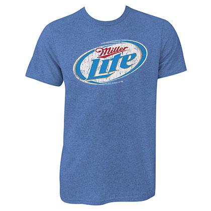 Miller Lite Logo Blue Shirt