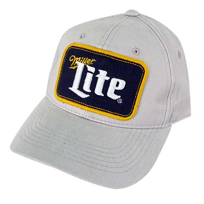 Miller Lite Grey Patch Logo Snapback Hat