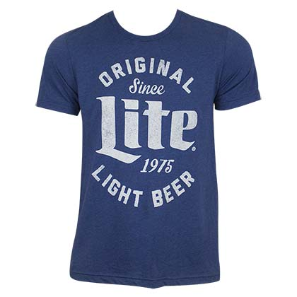 Miller Lite Men's Blue Original Light Beer T-Shirt