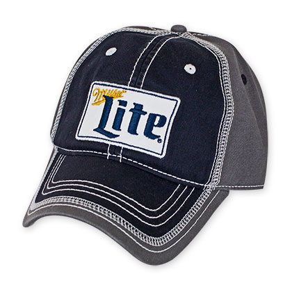 Miller Lite Grey And Black Hat