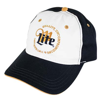 Miller Lite Black Quality Uncompromising & Unchanging Logo Hat