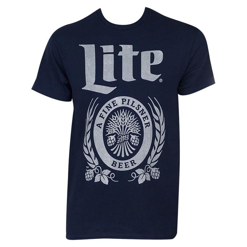 Miller Lite Navy Blue Tee Shirt