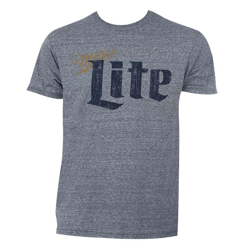 Miller Lite Men's Heather Grey T-Shirt