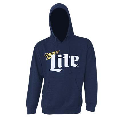 Miller Lite Logo Navy Blue Hoodie