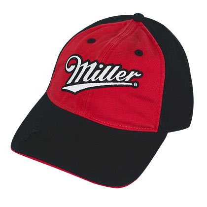 Miller Red And Black Curved Bill Hat