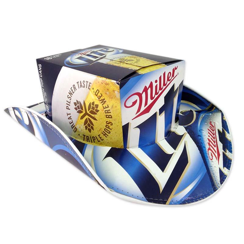 Miller Lite Box Beer Hats Cowboy Hat 6dbd09b6204