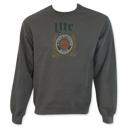 Miller Lite Men's Beer Logo Crew Neck Sweatshirt
