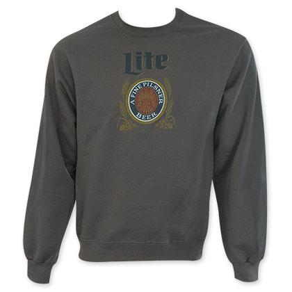 Miller Lite Men's Beer Logo Crew Neck Sweatshirt