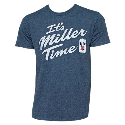 Miller Lite Men's Navy Blue It's Miller Time T-Shirt