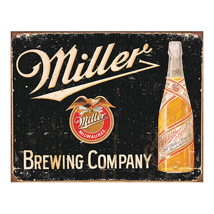 Miller Brewing Company Label Retro Tin Sign