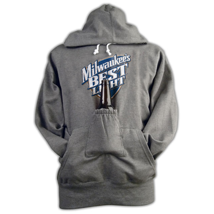 Milwaukee's Best Light Beer Pouch Hoodie
