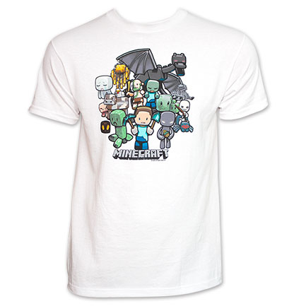 Minecraft Character Party Tee - White