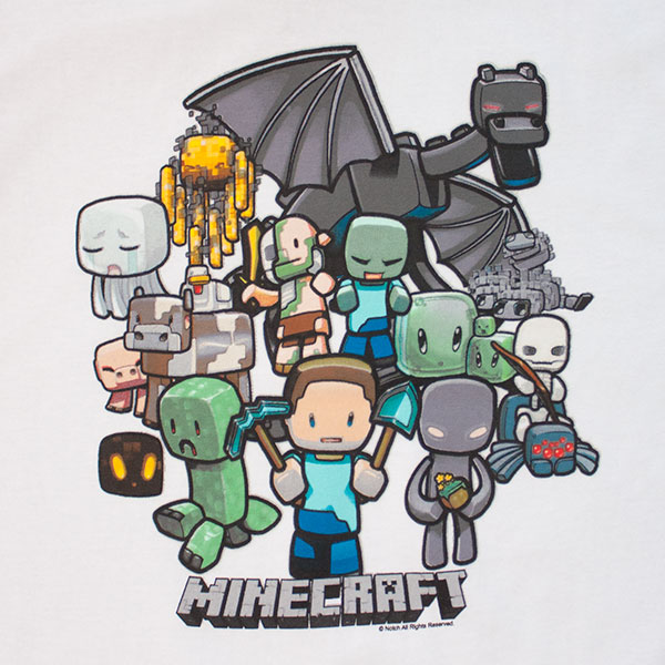 Party Minecraft Tee Shirt White