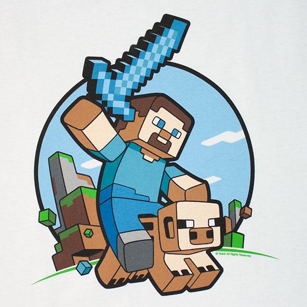 Minecraft Pig Tee Shirt - White