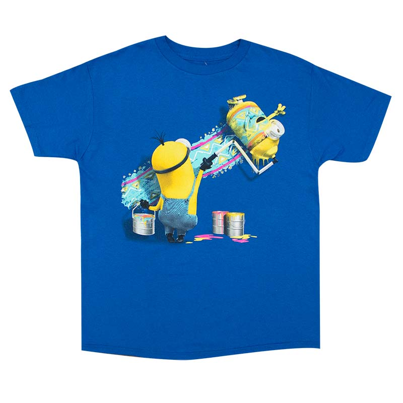Despicable Me Minions Paint Roller Youth Tee Shirt