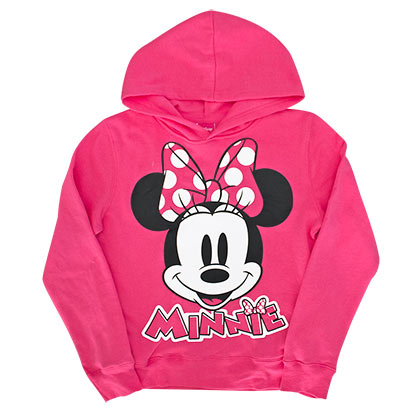 Minnie Mouse Youth Girl's Pink Hoodie