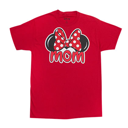Minnie Mouse Unisex Red Mom Logo T-Shirt