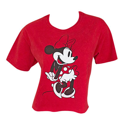 Minnie Mouse Classic Women's Red Crop Top Tee Shirt