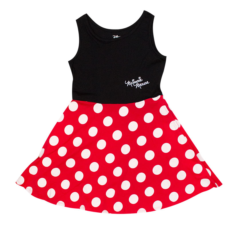Minnie Mouse Black And Red Kid's Dress