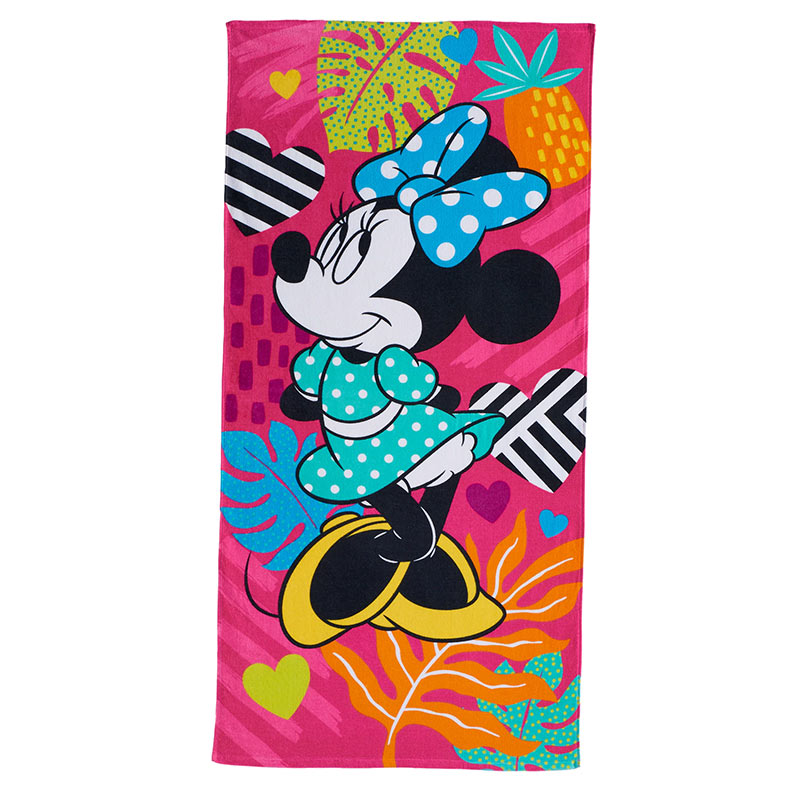 Disney Minnie Mouse Bold Pink Beach Towel