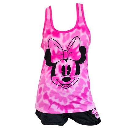 Minnie Mouse Ladies Tank Top Pajama Set