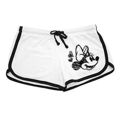 Minnie Mouse Women's White Beach Shorts