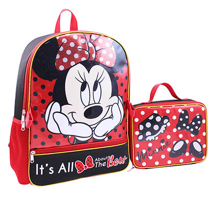 40896f903fb Minnie Mouse Backpack With Detachable Lunch Bag Set