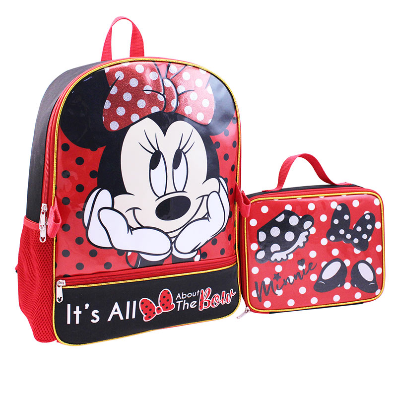 Minnie Mouse Backpack With Detachable Lunch Bag Set