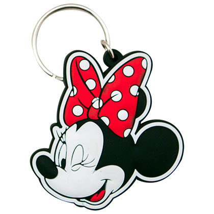 Minnie Mouse Winking Rubber Keychain
