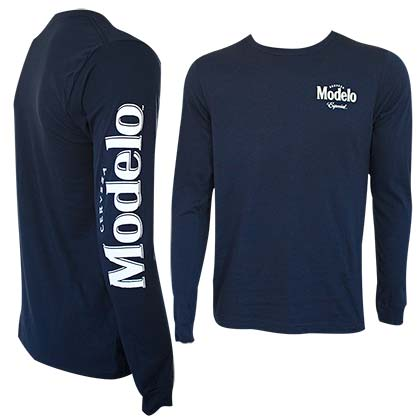 Modelo Especial Long Sleeve Navy Blue Tee Shirt